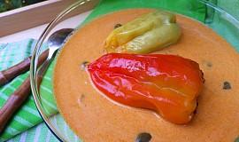 Plněné papriky ve smetanové omáčce s kapary