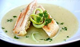 Pórková krémová polévka
