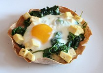 Špenátová mistička s vejcem
