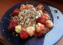 Tvarohové knedlíčky s čerstvým ovocem