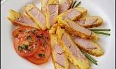 Uzené,smažené v pomerančovo sýrovém těstíčku