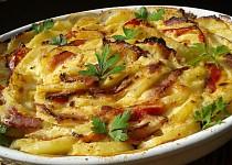 Zapečené křenové brambory