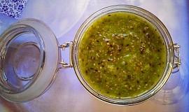 Zdravá domácí kiwi marmeláda s chia semínky