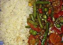 Zeleninová čína s rýží