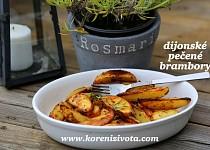 Dijonské pečené brambůrky