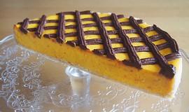Dýňový cheesecake s čoko mřížkou