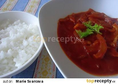 Fenykl dušený v rajčatovém pyré.