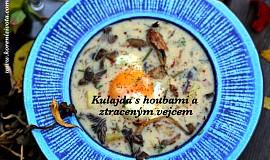 Kulajda s houbami a ztraceným vejcem (trošku jinak)