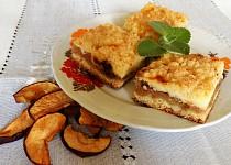 Linecký koláč s tvarohem a jablky