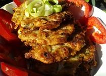 Masové bramboráčky  (když vám zbude mleté maso)