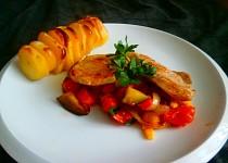 Ratatouille a vepřové maso