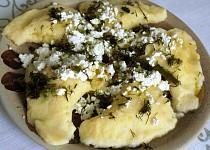 Tvarohovo - bramborové pirohy s mangoldem