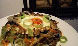 Zapečené houby se zeleninou