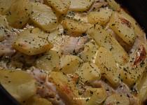 Zapečené rybí filé se smetanou a bramborem
