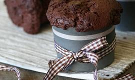 Čokoládové muffiny s kousky čokolády