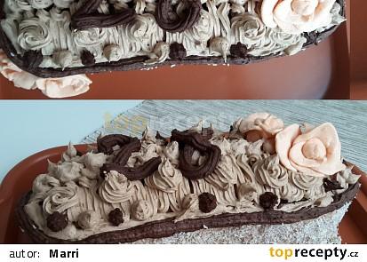 Čokoládovo - marcipánový krémový dort 28