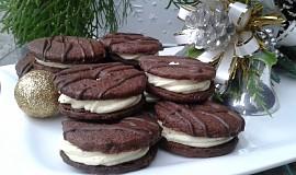 Kakaová kolečka s čokoládovo-koňakovým krémem