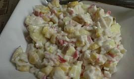 Krabí salát s jablky