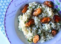 Parmezánové rizoto se slávkami