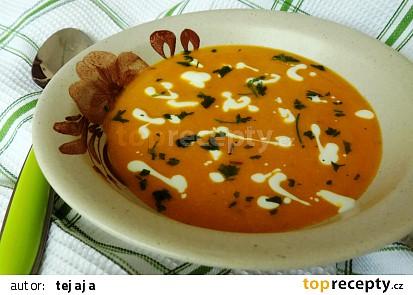 Polévka z oranžové tykve