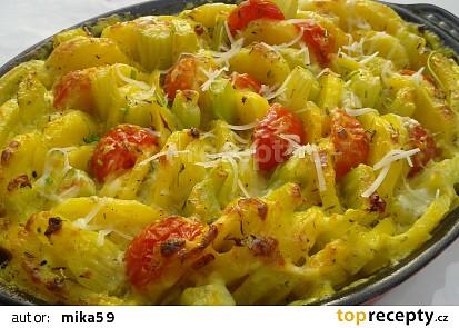 Šafránové brambory s řapíkatým celerem