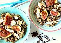 Skořicová quinoa kaše s fíky