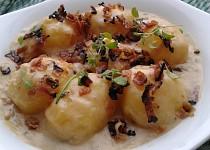 Smetanové brambory se slaninou