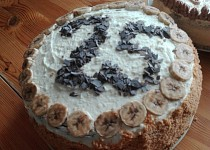 Čokoládový výroční dort