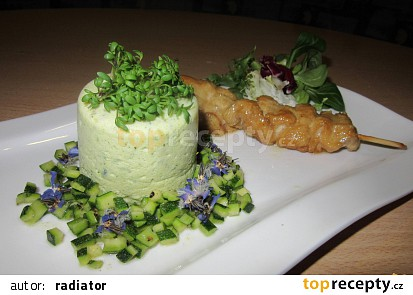 Cuketový pudink (slaný) s cuketovým kaviárem