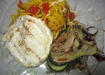 Grilovaný Hermelín s grilovanou zeleninou a fenyklem