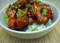 Hoisin krevety s rýží