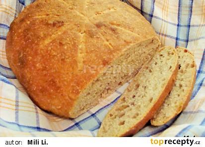 Kváskový chléb se syrovátkou, semínky a ovesnými vločkami