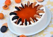 Nepečený jaffa piškotový dort s meruňkovou čokonáplní