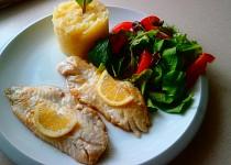 Okouník mořský a salát misticanza