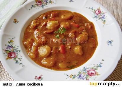 """Přesnídávková """"trampská"""" polévka s růžokapustou"""