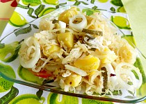 Salát z kysaného zelí 2