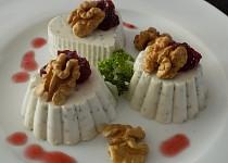 Sýrová panna cotta s chia semínky