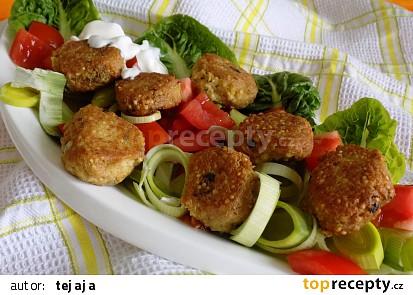Tofu kuličky na zelenině