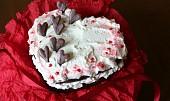 Valentýnský red velvet cake