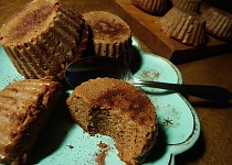 Čoko-lučinové muffiny ze tří surovin