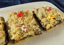Hrnkový drobenkový koláč s povidly