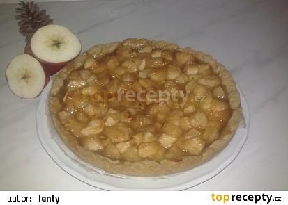 Jablečný karamelový koláč