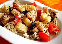 Těstoviny s bazalkovým tofu