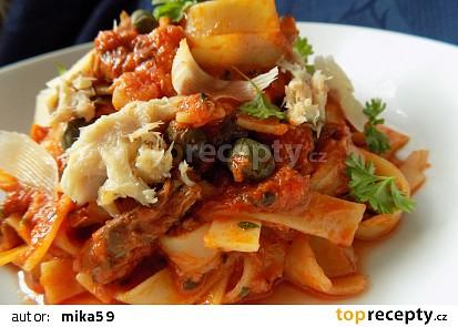 Těstoviny s uzenou makrelou