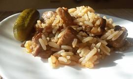 Vepřovo - houbové rizoto