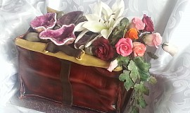 Ametyst z cukru na dortu