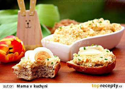 Cizrnovo-vajíčková pomazánka