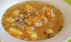 Čočkovo - kroupová polévka