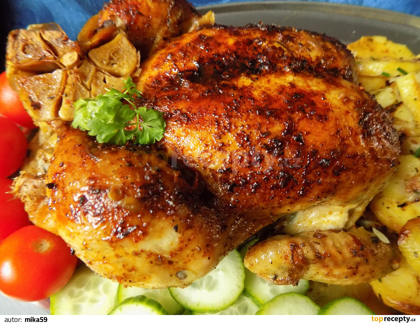 Pomalu pečené kuře v pečícím sáčku na cibuli recept - TopRecepty.cz 2f698922ecf