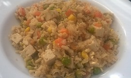 Smažená rýže bez tuku (vegan)